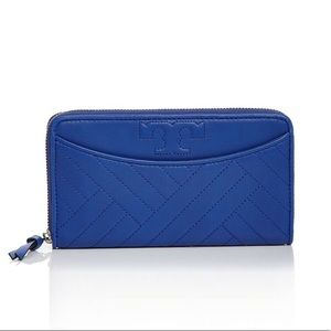 Tory Burch Alexa Zip Continental Wallet Royal Blue